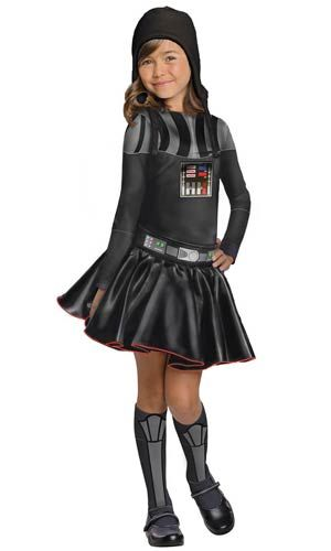 Girls Star Wars Darth Vader Costume