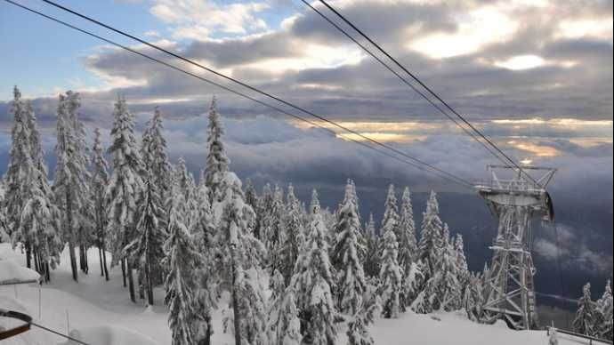 Grouse Mountain in the Winter. Image courtesy of Lisa.