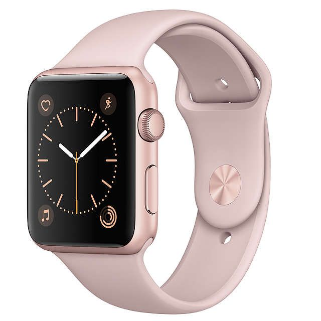 BuyApple Watch Series 1 42mm Rose Gold Aluminium Case with Sport Band, Pink Sand Online at johnlewis.com