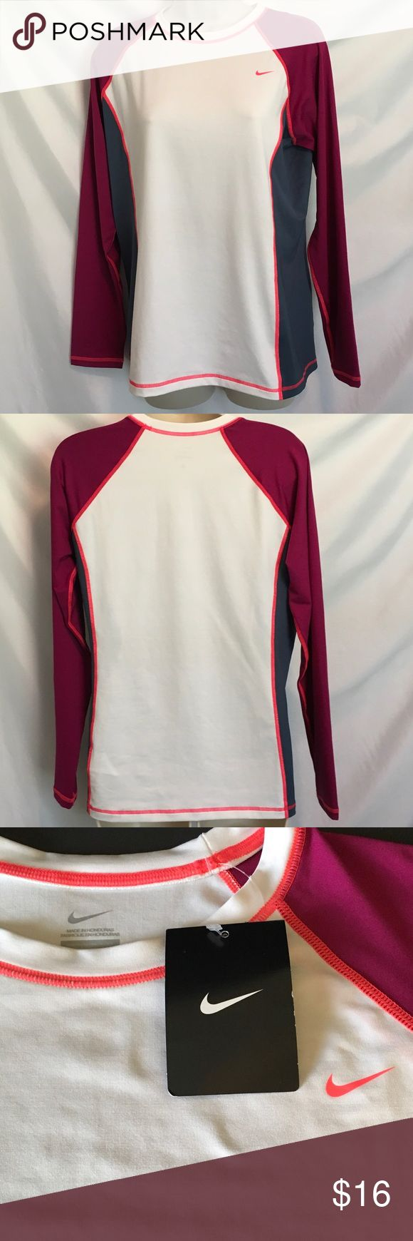 Women's Nike long sleeve shirt NWT nice women's work out top. 90% polyester 10% spandex Nike Tops Tees - Long Sleeve