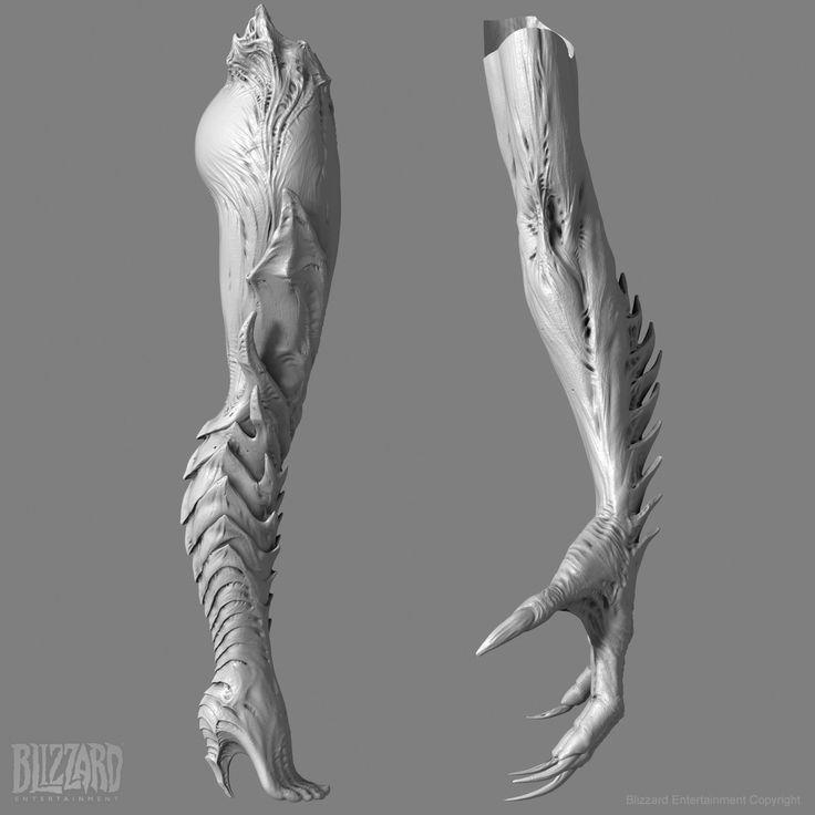 Kerrigan Arm Leg Sculpt for StarCraft 2 Cinematics