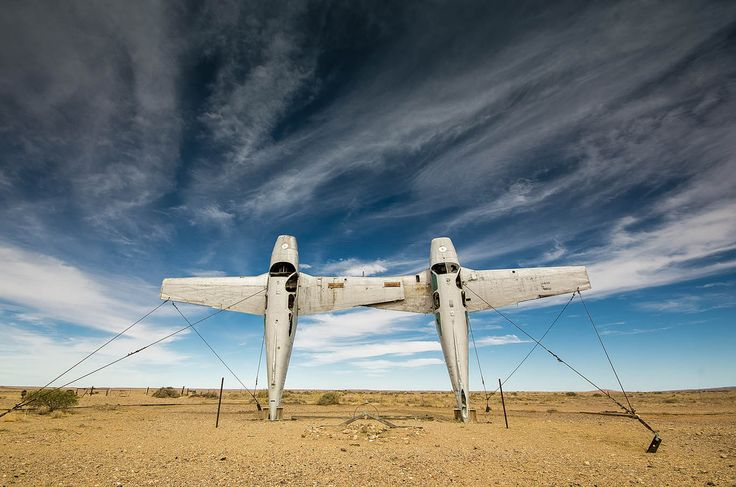 Mutonia Sculpture Park with it's remarkable Plane Henge, Oodnadatta Track, SA
