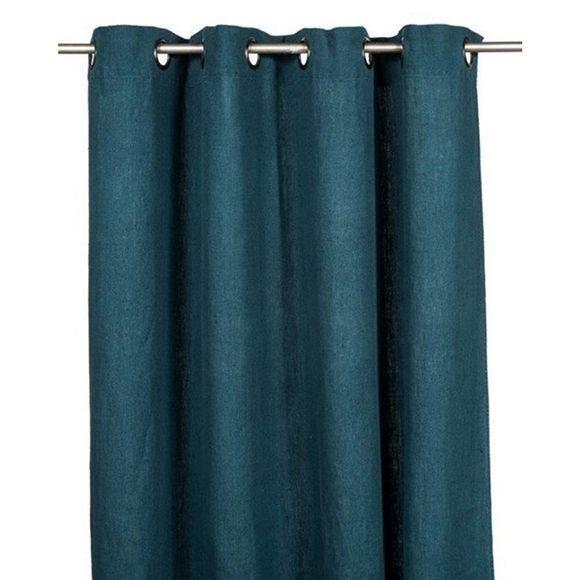 rideaux oeillets voilage bleu