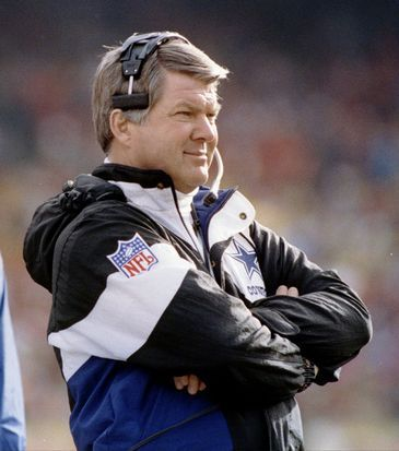 Dallas Cowboys HC Jimmy Johnson; !989 - 93 ... Currently NFL on Fox studio analyst.
