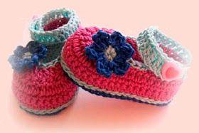 Patron zapatitos de bebe ganchillo/crochet paso a paso