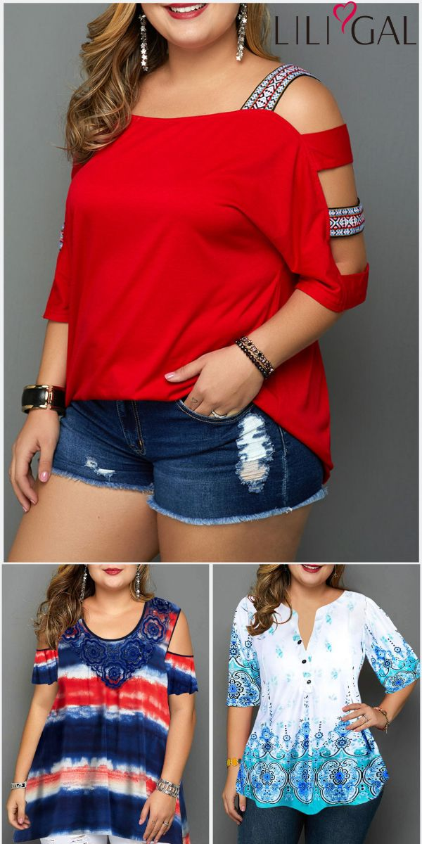 Cute Plus Size Spring Summer Tops For Curvy Girls~