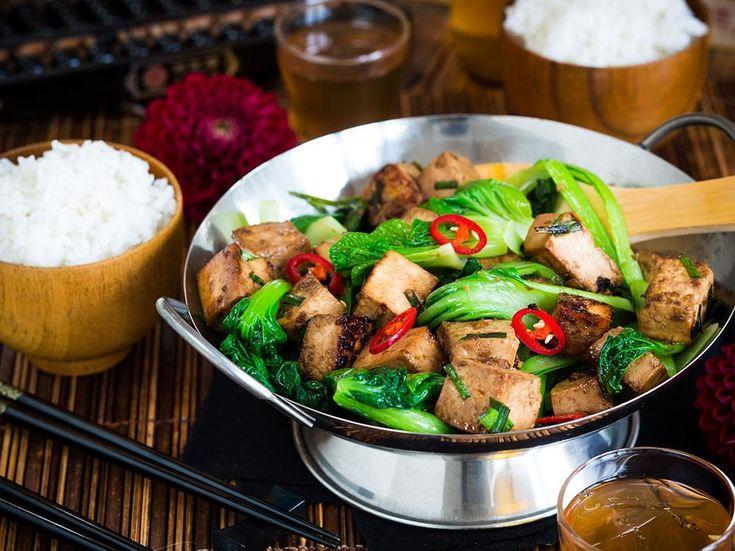 Marinated Tofu Recipe with Asian Greens - Viva