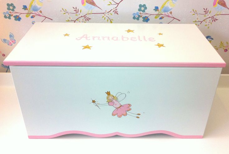 Toychest with fairy motif and name.