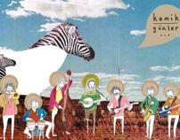 """illustration for the band """"Komik Günler"""""""
