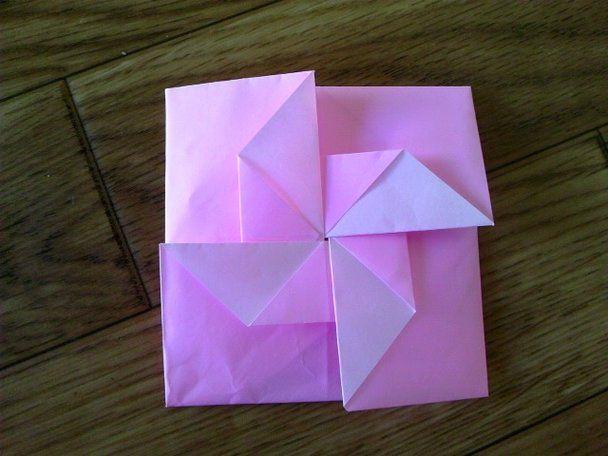 折り 折り紙 折り紙 風車 作り方 : jp.pinterest.com