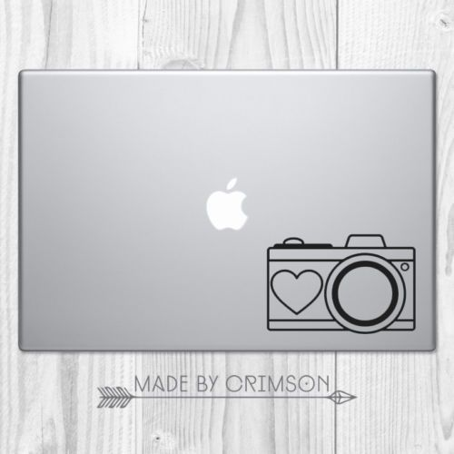 Photographer camera heart photography love decal car laptop