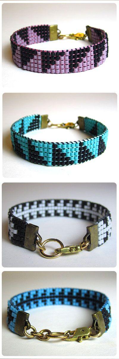 #geometric beaded bracelets