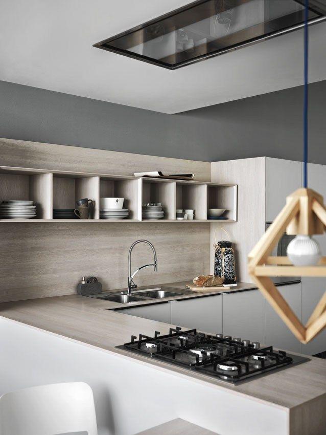 Cocina integral con empuñaduras ARIEL 01 by CESAR ARREDAMENTI | diseño Gian Vittorio Plazzogna