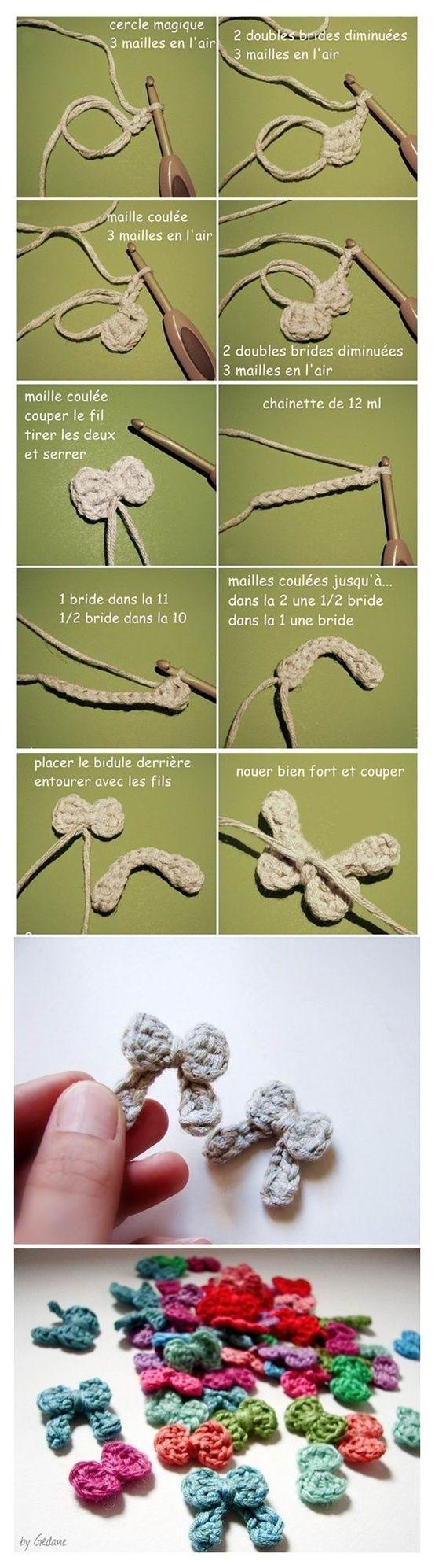 Cute little crochet bows