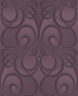 jazz plum wallpaper.  wondering if i can pull this off