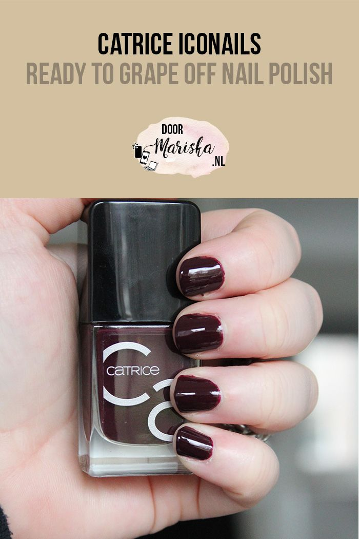 Catrice ICONails - Ready to grape off nail polish swatch - doormariska.nl