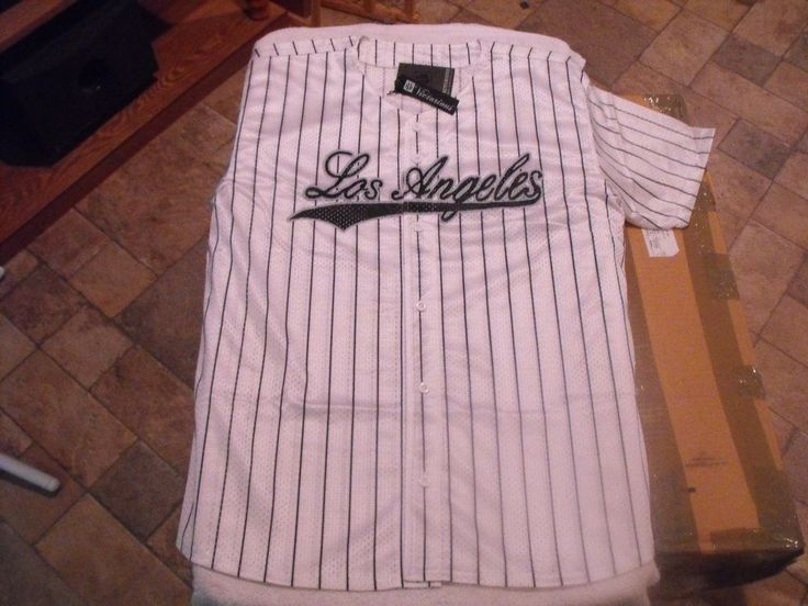 WHITE PINSTRIPED LOS ANGELES  LOW RIDER, SURENO, CHOLO, MESH BASEBALL  JERSEY. #Victorious #SurenoJersey