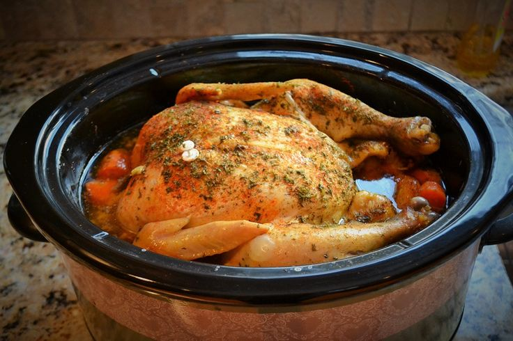 Tender Slow Cooker Whole Chicken There's nothing like cooking a whole chicken in a crock pot. It's the easiest way to do it as there's no tying of kitchen twine, no roasting pan, no watching the oven and the internal temperature.5/5.