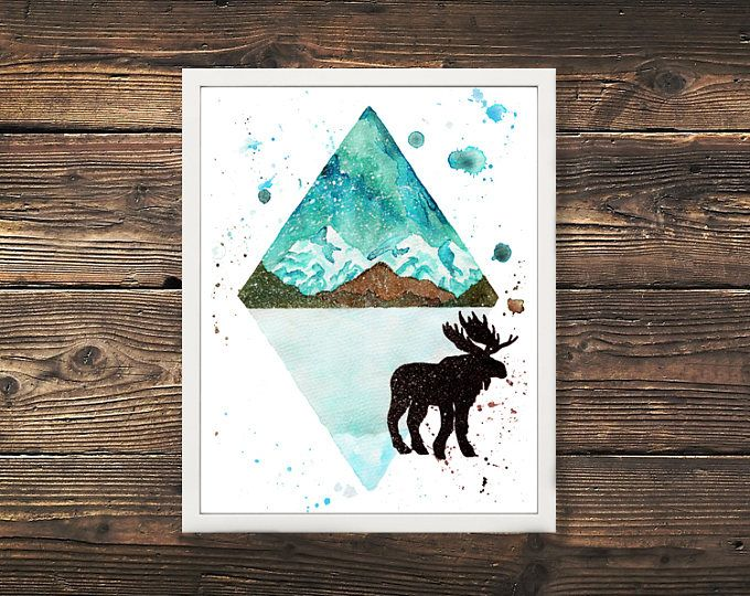 Mountain Moose Canaidan Print  Browse unique items from WildNorthCreations on Etsy, a global marketplace of handmade, vintage and creative goods.