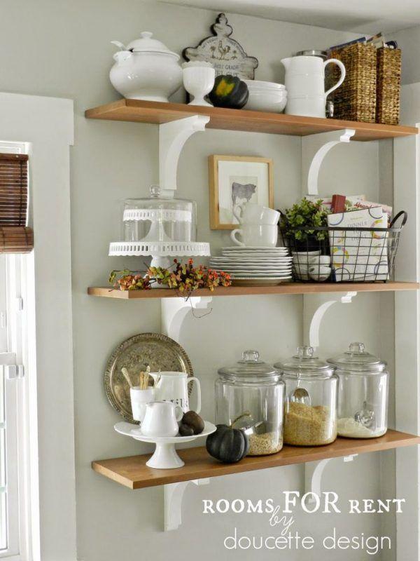 Easy Kitchen Storage Tips Kitchen Shelf Decor Decor Dining
