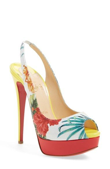 Christian Louboutin 'Hawaii' Peep Toe Platform Pump available at #Nordstrom