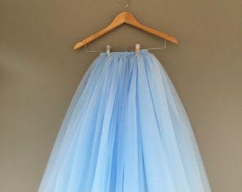 Tutú largo niño tutu niña de las flores largo falda por shopVmarie