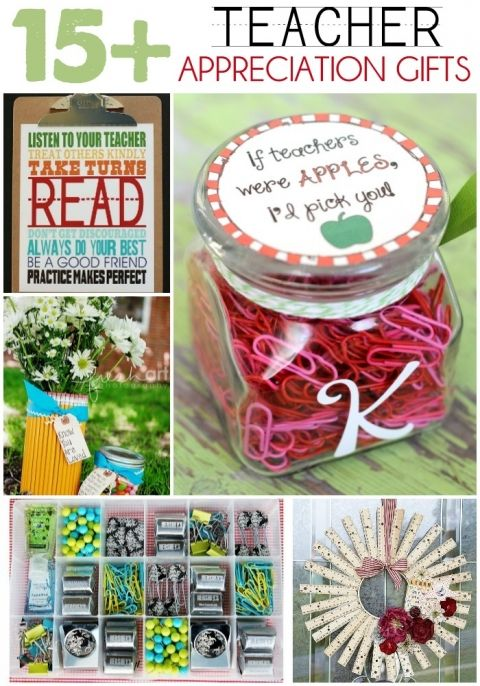 15+ Teacher Appreciation Gift Ideas on { lilluna.com } Lots of great ideas for those great teachers!