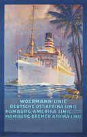 Верман Linie Hamburg America Line Туристическое Агентство ad Винтаж Ретро…
