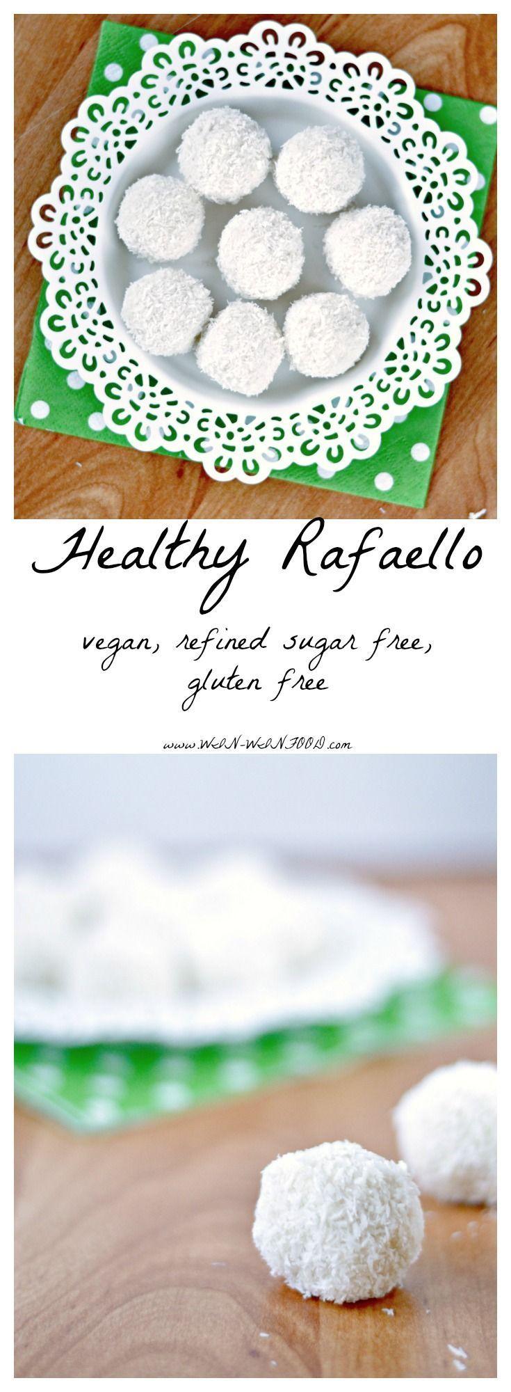 Healthy Raffaello | Coconut shreds, maple syrup, coconut cream and almonds