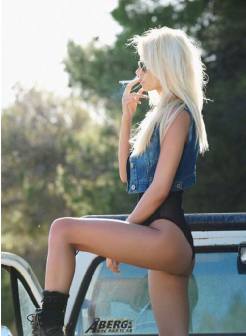 Loving The Denim Vest On Top But Put The Cig Out Slut, Smoking Kills   Suited Up  Pinterest  Sexy, Style And Beauty-4146