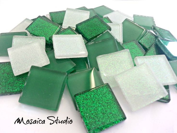Crystal Treasure Packs 23x23mm - Green with Envy- x 90pc by MosaicStudio1 on Etsy