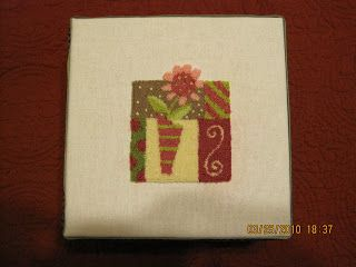 Punchneedle for Mara Jane's hairbow box