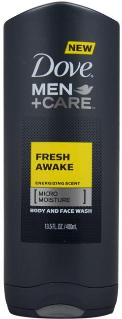 Men Dove Men + Care Fresh Awake Body & Face Wash 13.5 oz - 3 UNITS