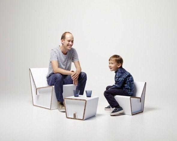 Cardboard Furniture / Showroom Finland | AA13 – blog – Inspiration – Design – Architecture – Photographie – Art