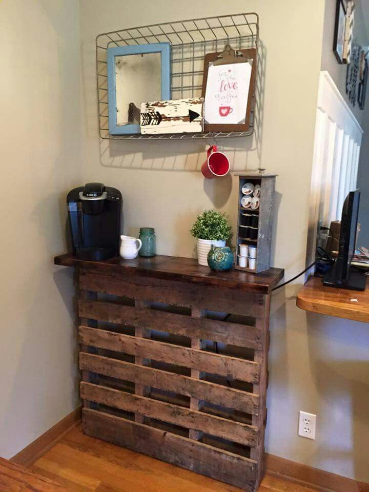 Pallet Coffee Bar To Diy List In 2019 Coffee Bar
