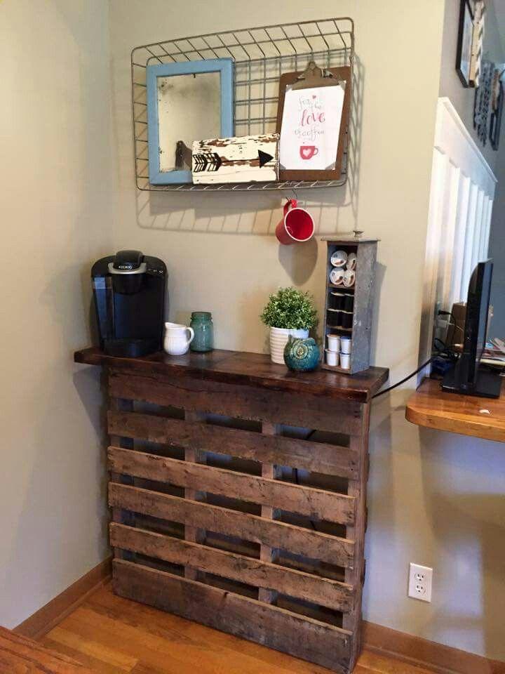 Pallet coffee bar  To DIY List in 2019  Coffee bar