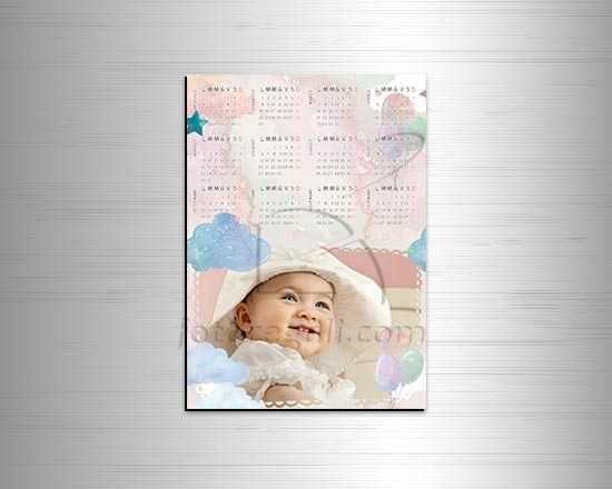 Calendario magnetico A4 Soft clouds