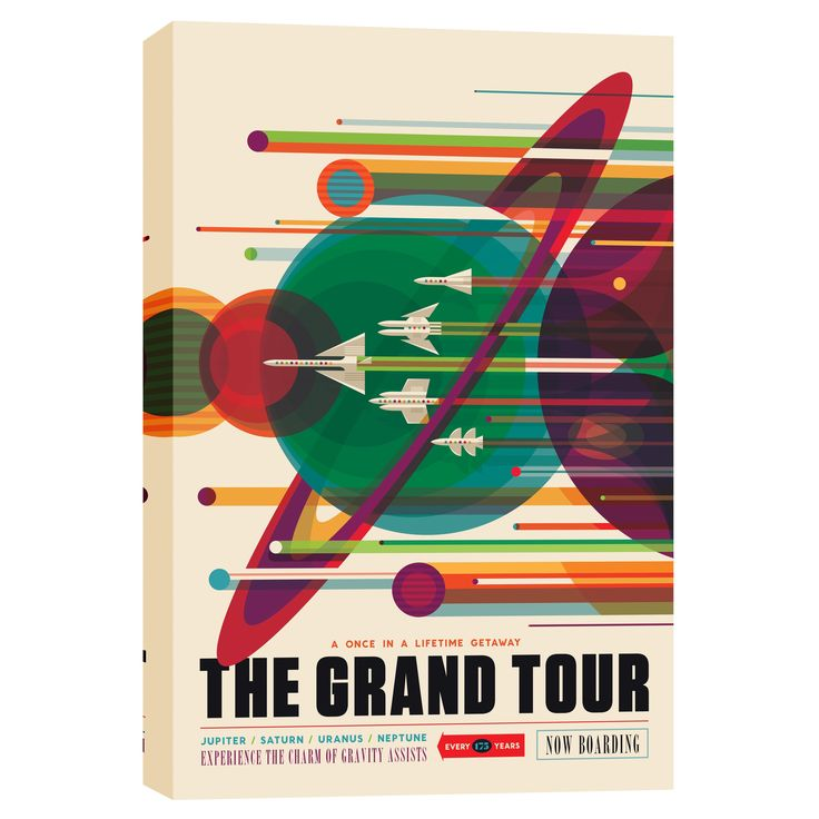 Epic Graffiti 'Visions of the Future: The Grand Tour Space' Giclee Canvas Wall Art
