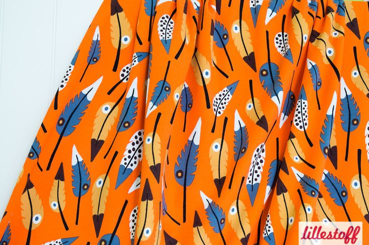 Lillestoff » Pluma orange « // derzeit leider nicht erhältlich