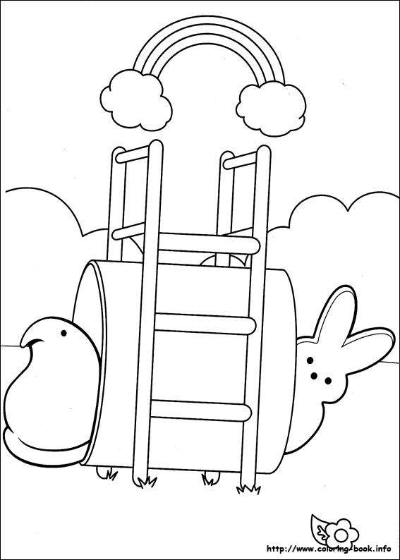 Marshmallow Peeps coloring page • Mature Colors
