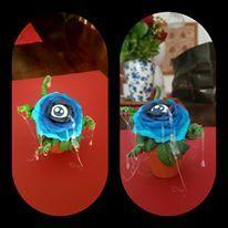 rose eye handmade polymer clay #tattooshopideas info wikycircus@gmail.com
