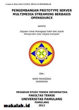 Download Proposal Skripsi Teknik Informatika