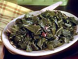 Collard greens -- thank you, Paula Dean (good directions if you are like me and have never fixed them before)