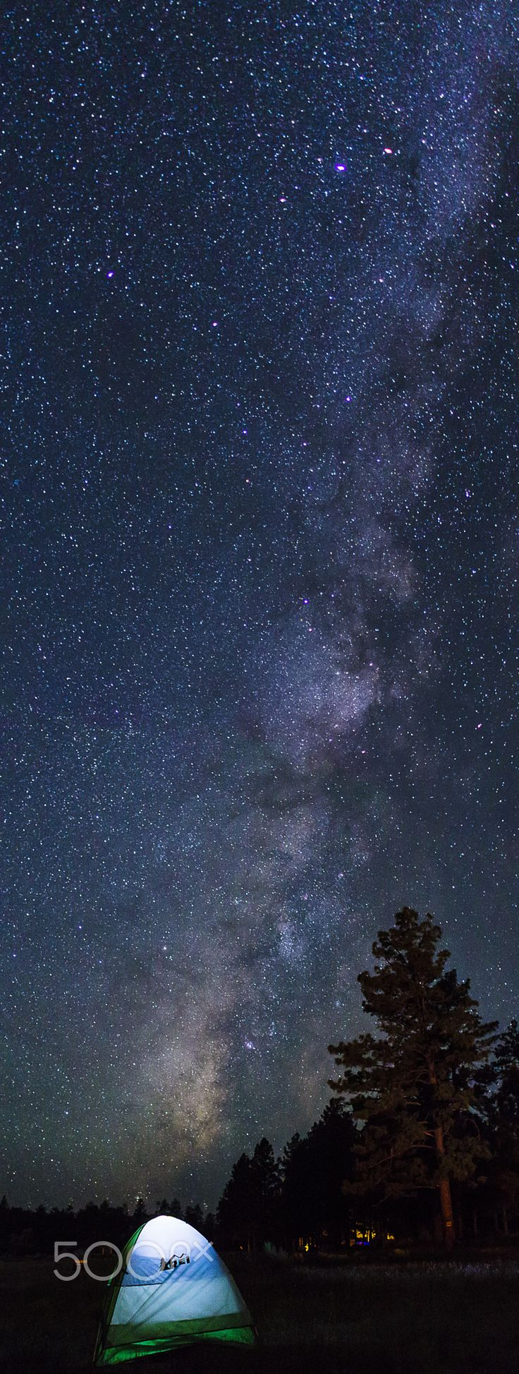 Sleeping under Milky Way. - See to the Sky before go to sleep.
