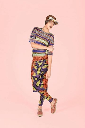 #MMissoni | Ribbon three-quarter-sleeved crew neck sweater & Phyton Jacquard Leggings & Skirt | Summer 2014 Collection | Chic & The City