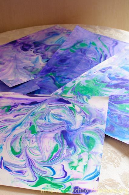 Shaving cream paper so awesome and simple and much more for Easy watercolour projects