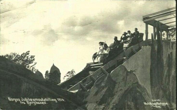 Kristiania Christiania Jubileumsutstillingen Bjergbanen. Utg Utstillingsforlaget . Stemplet 1914