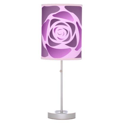 Purple rose table lamp