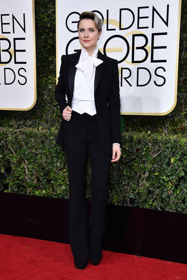 Evan Rachel Wood in an Altuzarra custom tuxedo