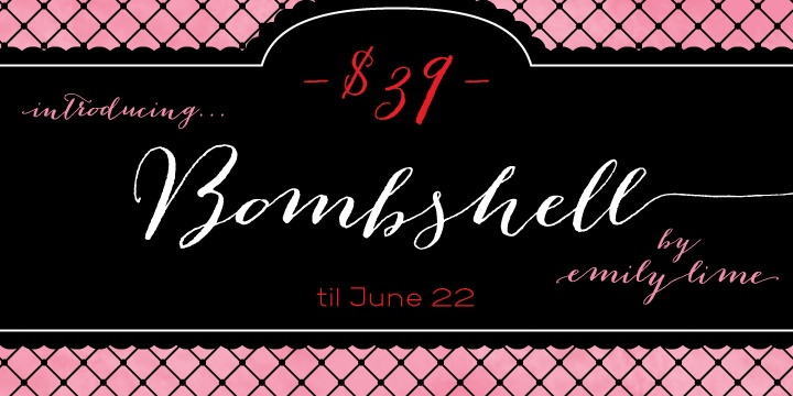 Bombshell Pro - Webfont & Desktop font « MyFonts  $39: For Fonts, Calligraphy, Create Beautiful, Branding Typography, Myfont Scripts, Beautiful Head, Fonts Collection, Collection Stat, Bombshells Pro I